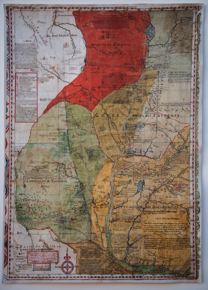 Mapa de las Misiones jesuíticas en el Paraguay, 1766
